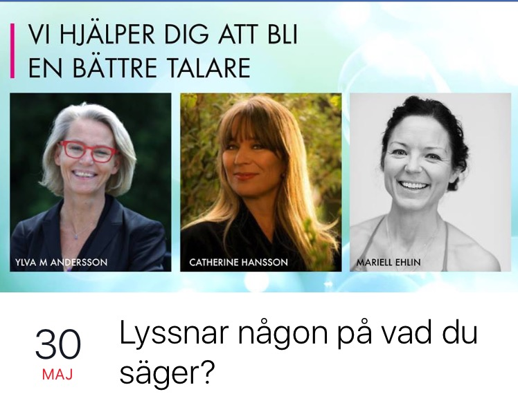 Ylva M Andersson, Catherine Hansson, Mariell Ehlin